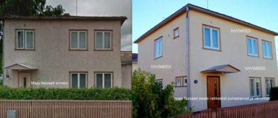 Maja-fassaad-ennem-ja-pärast_puhastamine-vetikatest-värvimine-silikaatvärviga-e1480355483880