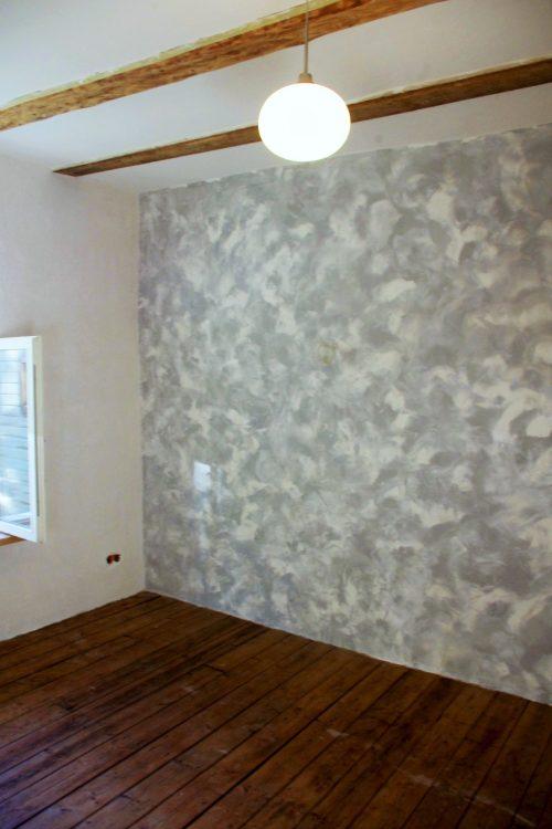 Kahevärviline lubipahtel stucco tehnikas