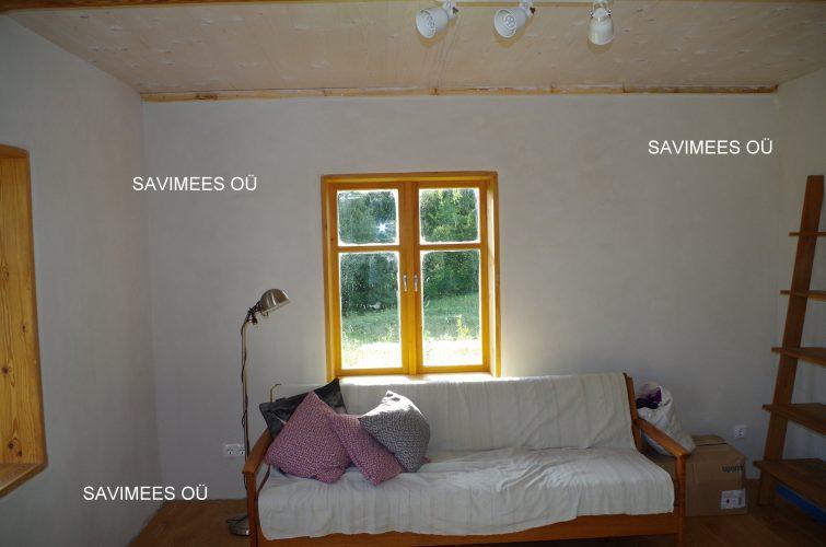 Seinad kaetud rooplaadiga, krohvitud lubikrohviga, viimistletud lubipahtliga