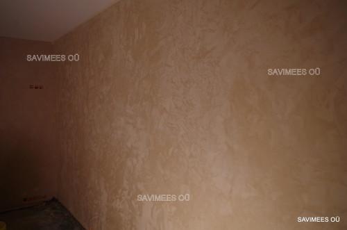 Lubipahtliga viimistletud seinad