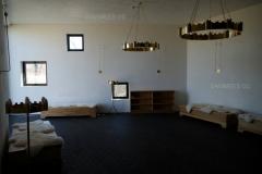 Marmor-lubikrohviga viimistletud Palverändurite maja seinad ja laed (ca 1300 m2)