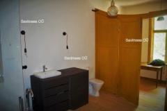 Marmor-lubikrohviga krohvitud vannitoa seinad
