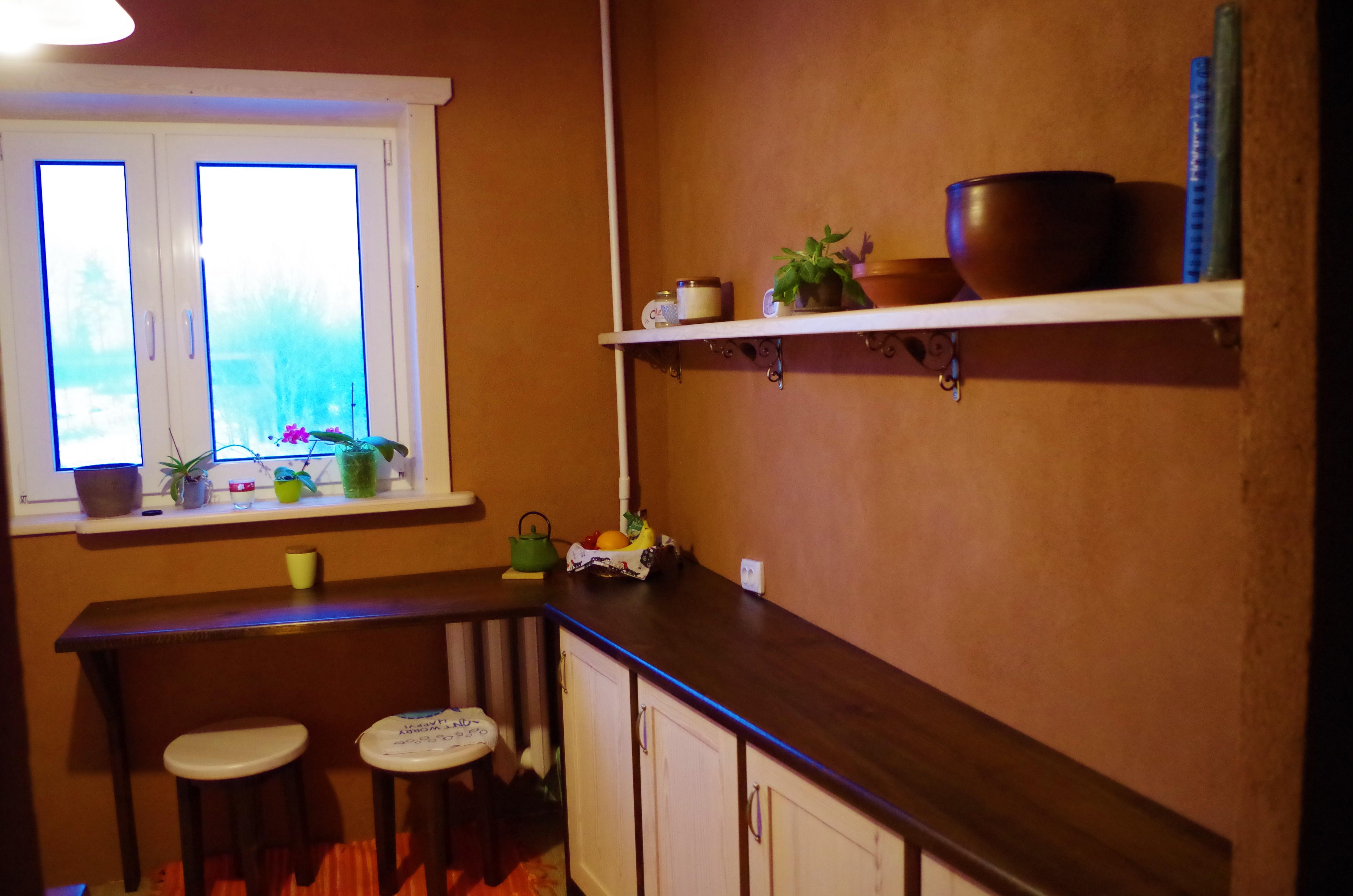 Savikrohviga krohvitud köök