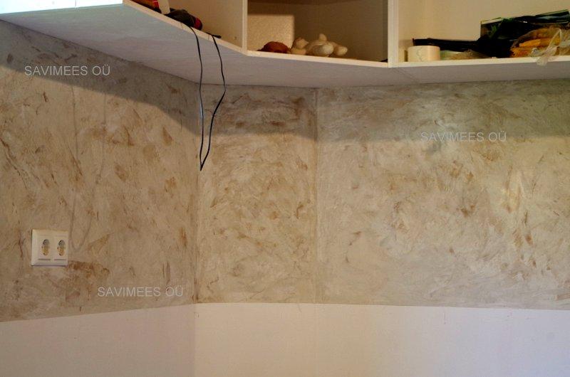 Köögi-töötasapinna-tagune-sein-viimistletud-stucco-lubipahtliga