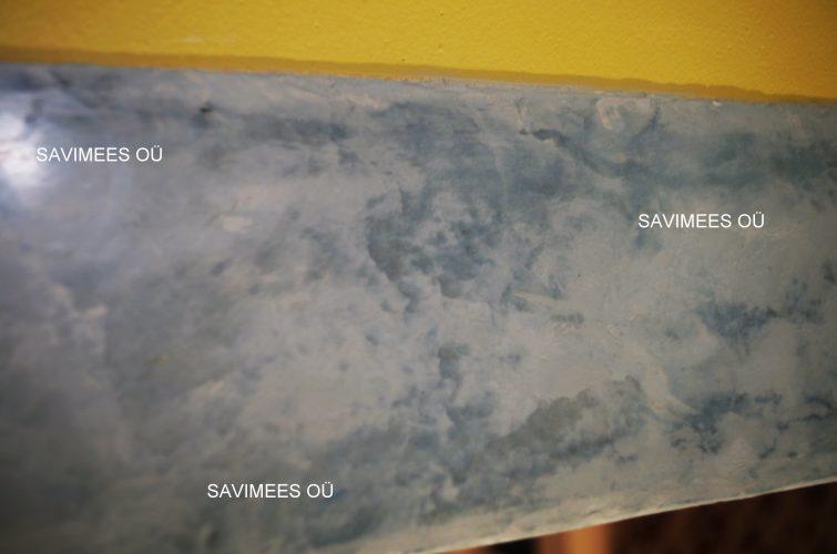 Sinise pigmendiga toonitud stucco lubipahtel