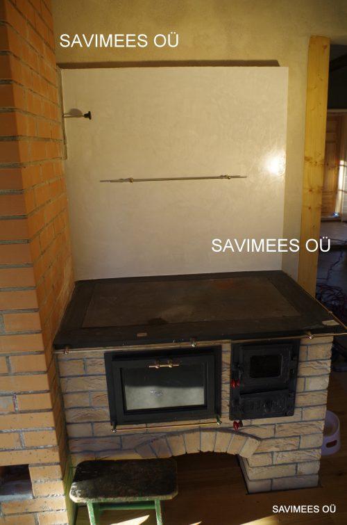 Stucco lubipahtliga viimistletud soojamüür. Seinad krohvitud lubikrohviga