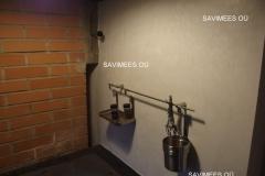 Valge stucco lubipahtliga viimistletud soojamüür